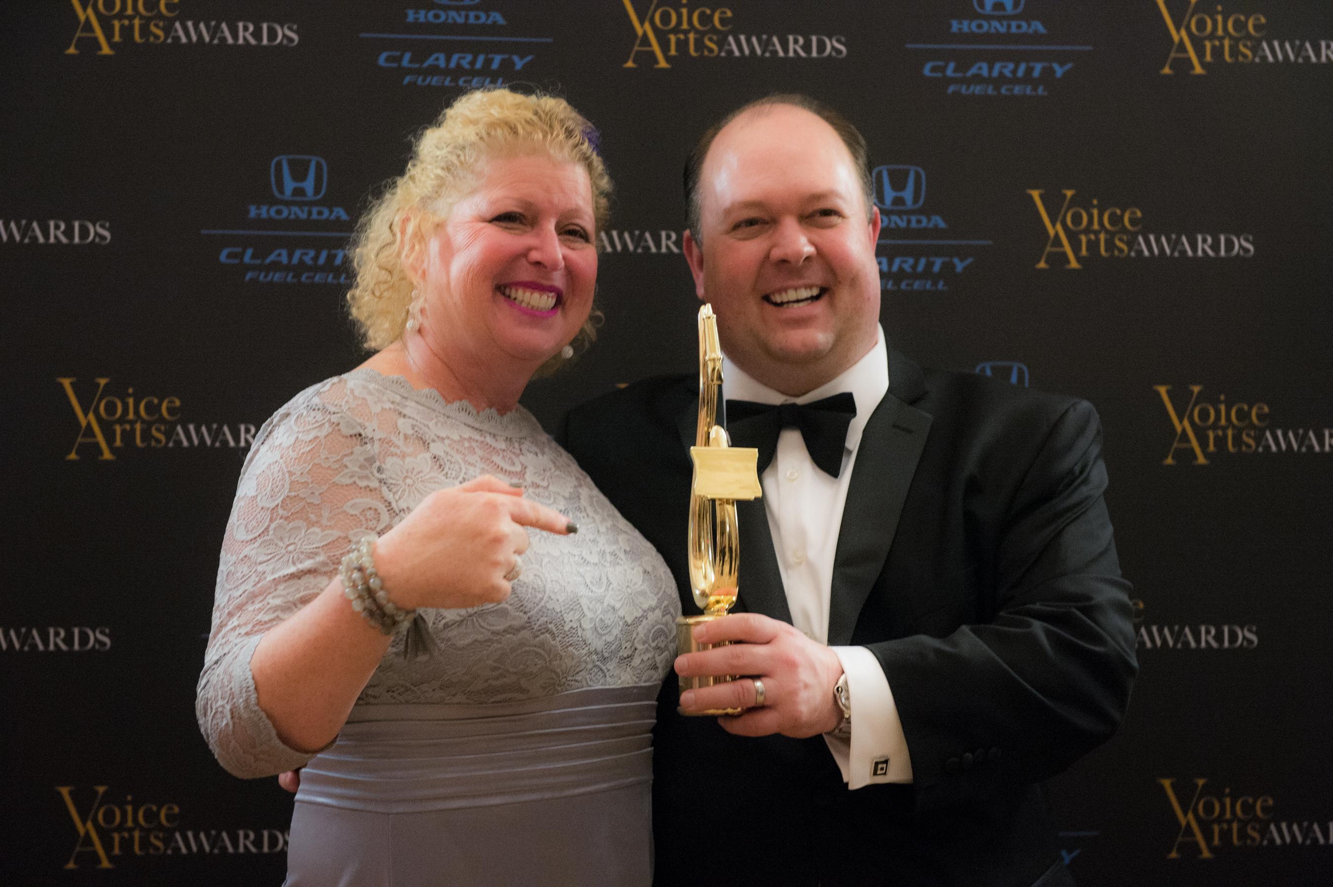 Demo client Susan Bernard, winner of the 2016 Voice Arts Award