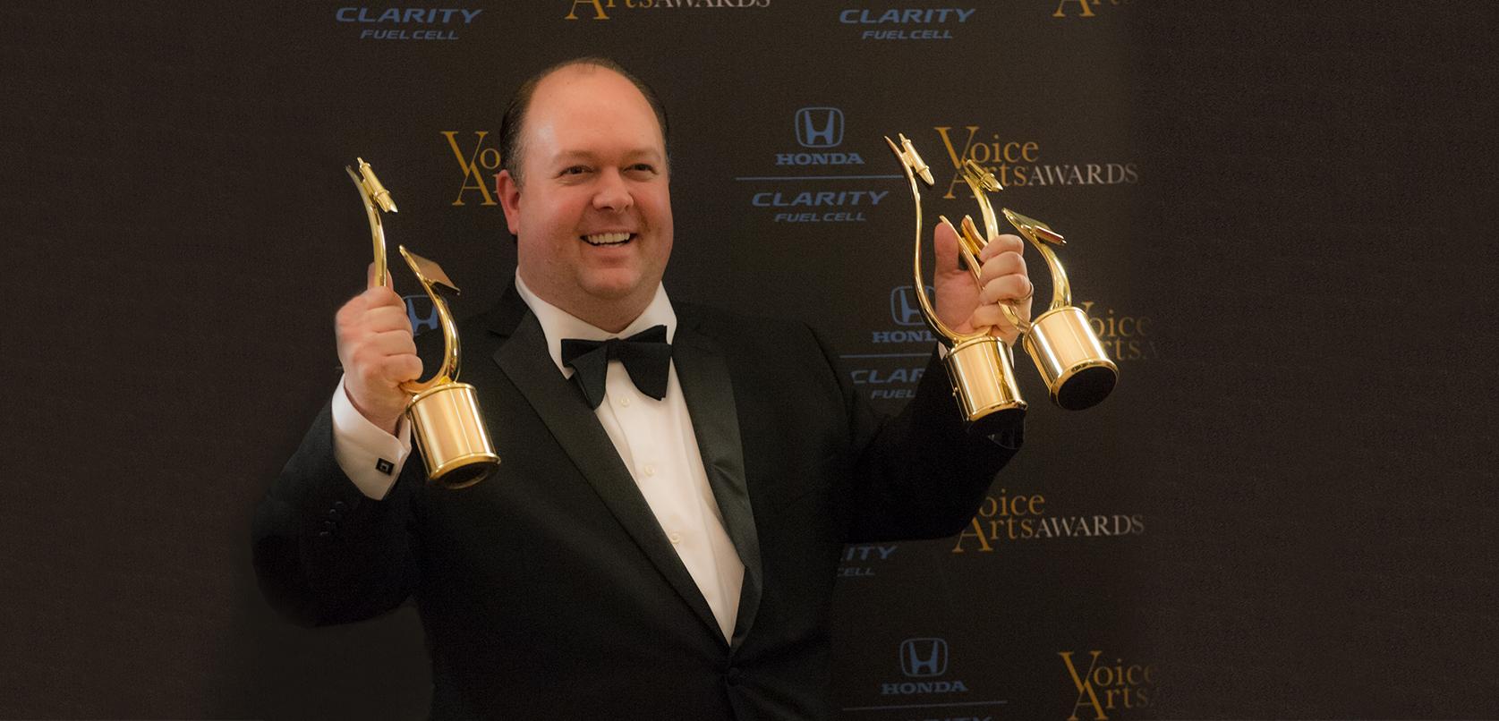 J. Michael Collins, multiple winner Voice Arts Awards